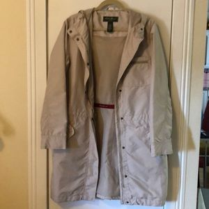 Eddie Bauer cream colored jacket size Tall Med.